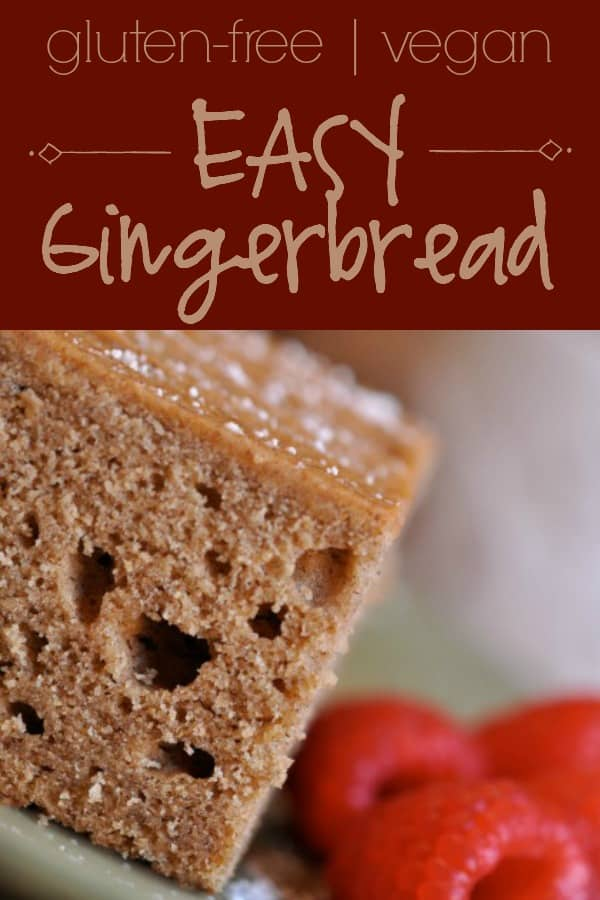 Easy Gingerbread recipe that's even gluten free & vegan. What more could you ask? | gfJules