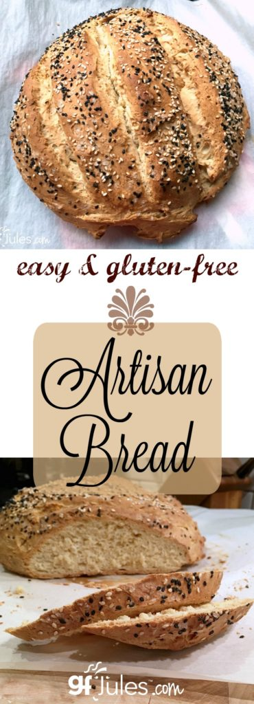 Making gluten free artisan bread is not only possible, it's downright easy! You don't even need a bread pan to make a gorgeous crusty gluten free loaf!