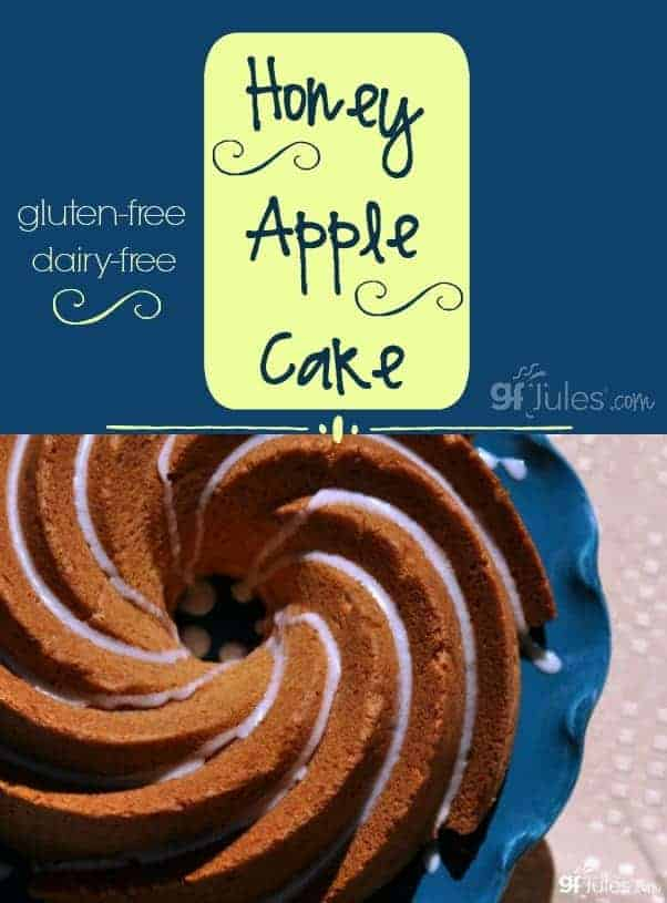 Gluten Free Honey Apple Cake for Rosh Hashanah or anytime honey and apple sound as good together as they taste! gfJules.com