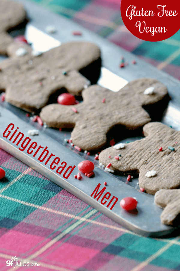 Gluten free graham crackers as gingerbread men