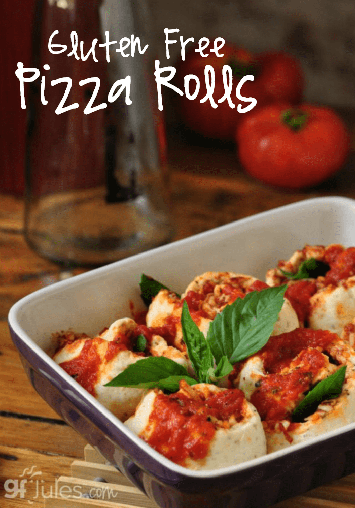 These Gluten Free Pizza Rolls are life changing. Look at the pix, and imagine the format. Made w/ my award-winning gfJules gluten free pizza mix. BUENO! gfjules.com